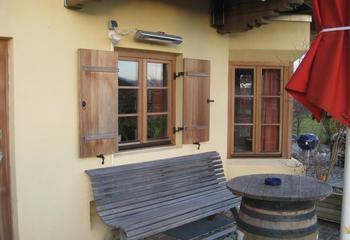 Infrarotstrahler für Gastgarten und Terrasse